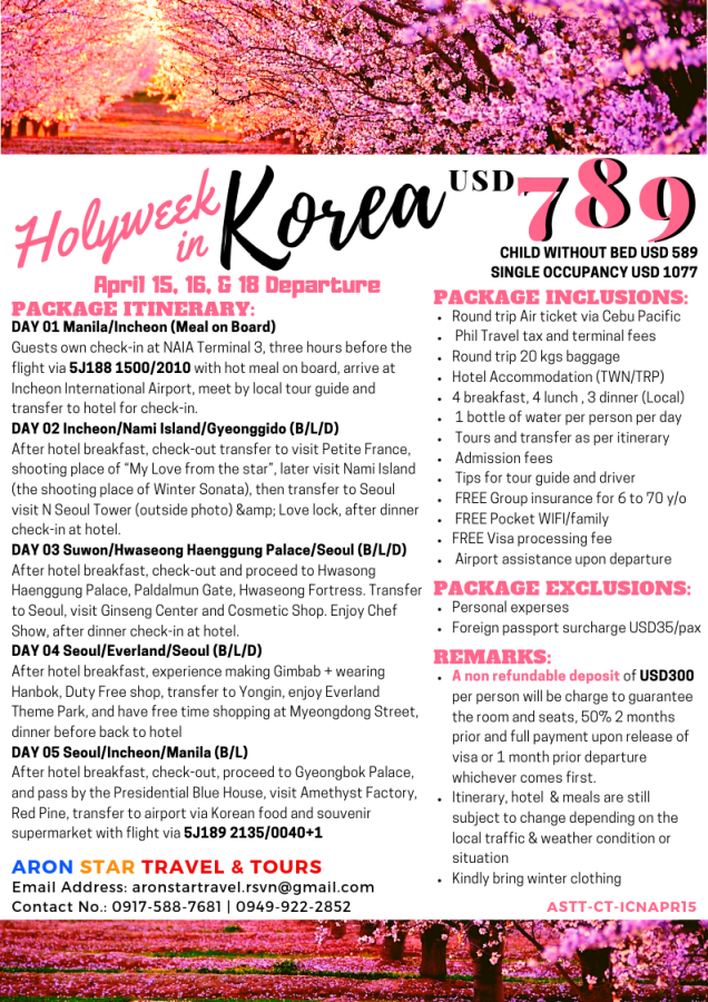 Holyweek in Korea April 15, 16, and 18.png
